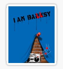 I am Banksy Sticker