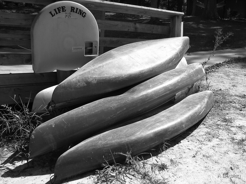 Stacked Boats by A Bewley