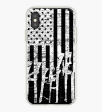 USA Gun Rifles Flag White  iPhone Case