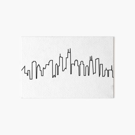 Chicago City Skyline Art Board Print