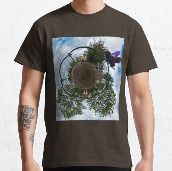 Siblings on a 6 Seater Swing Classic T-Shirt
