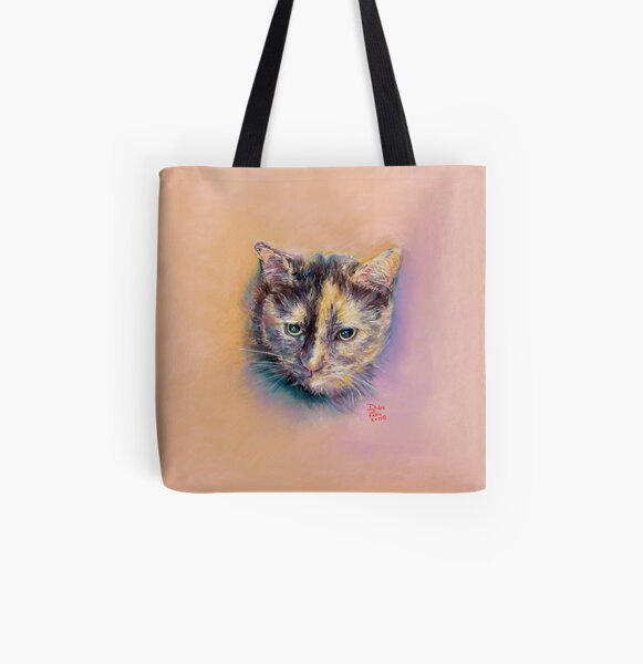 Annie Calico Kitty All Over Print Tote Bag