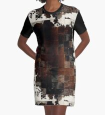 Cowhide Patchwork | Texture  Graphic T-Shirt Dress