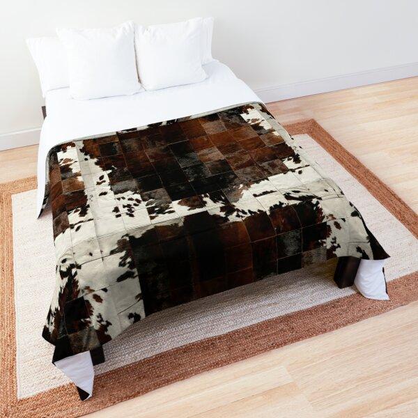 Cowhide Patchwork | Texture  Comforter