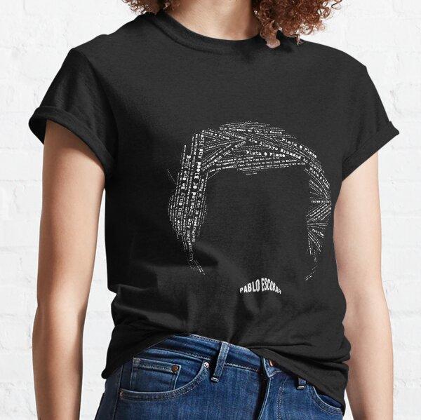 Pablo Escobar Face & Quotes Camiseta clásica