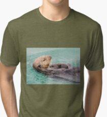 Belly Rub Digital Art Tri-blend T-Shirt