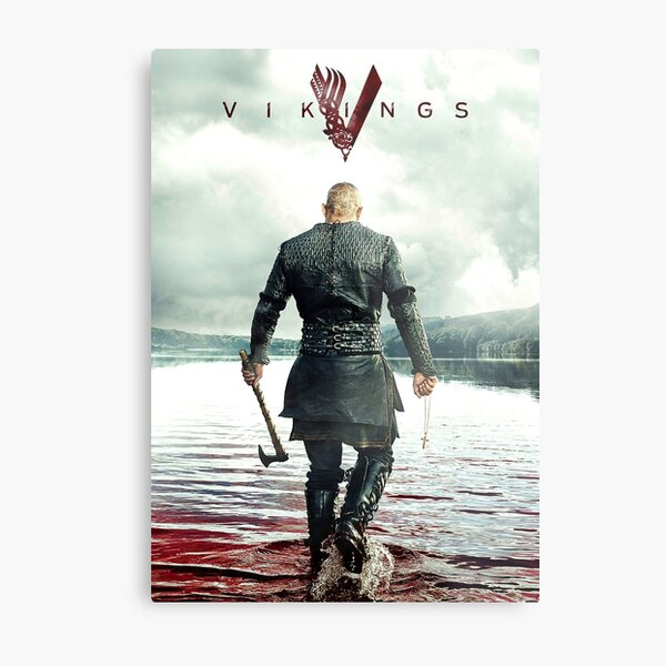 Ragnar Lothbrok Vikings Impression métallique