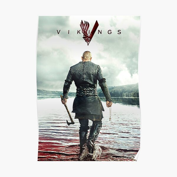 Ragnar Lothbrok Vikings Póster