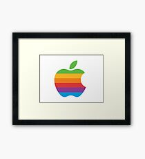 Rainbow apple logo Framed Print