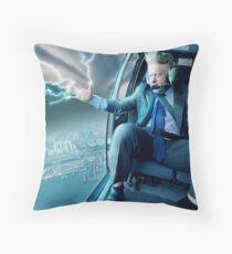 Boris Johnson in a Helicopter Throw Pillow