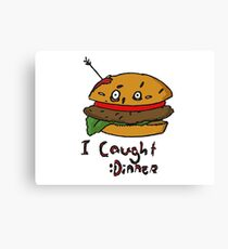 Burger Murder Canvas Print