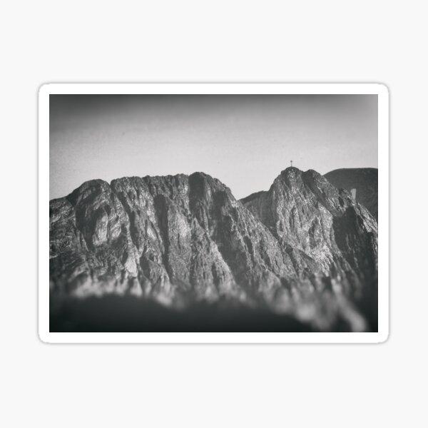 Giewont mountains Tatry #tatry #blackandwhite #photo Sticker