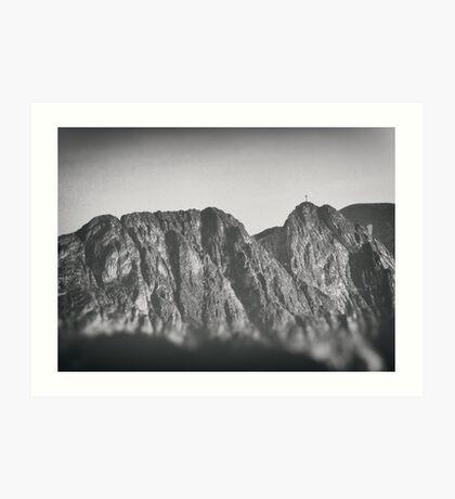 Giewont mountains Tatry #tatry #blackandwhite #photo Art Print