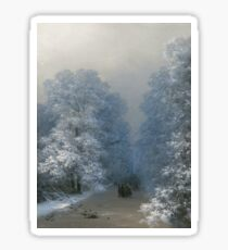 Winter Landscape by Ivan Aivazovsky Sticker