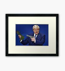 Boris Johnson Meme Framed Print