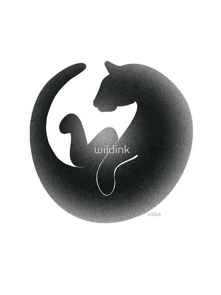 black cat by wildink