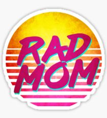 Womens Women's Rad Mom Cool Mother's Day Sticker
