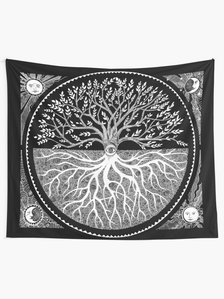 Alternate view of Druid Tree of LIfe Tapestry