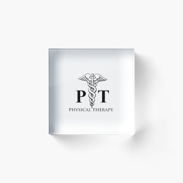 Logotipo de fisioterapia Bloque acrílico