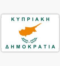 flag of cyprus Sticker