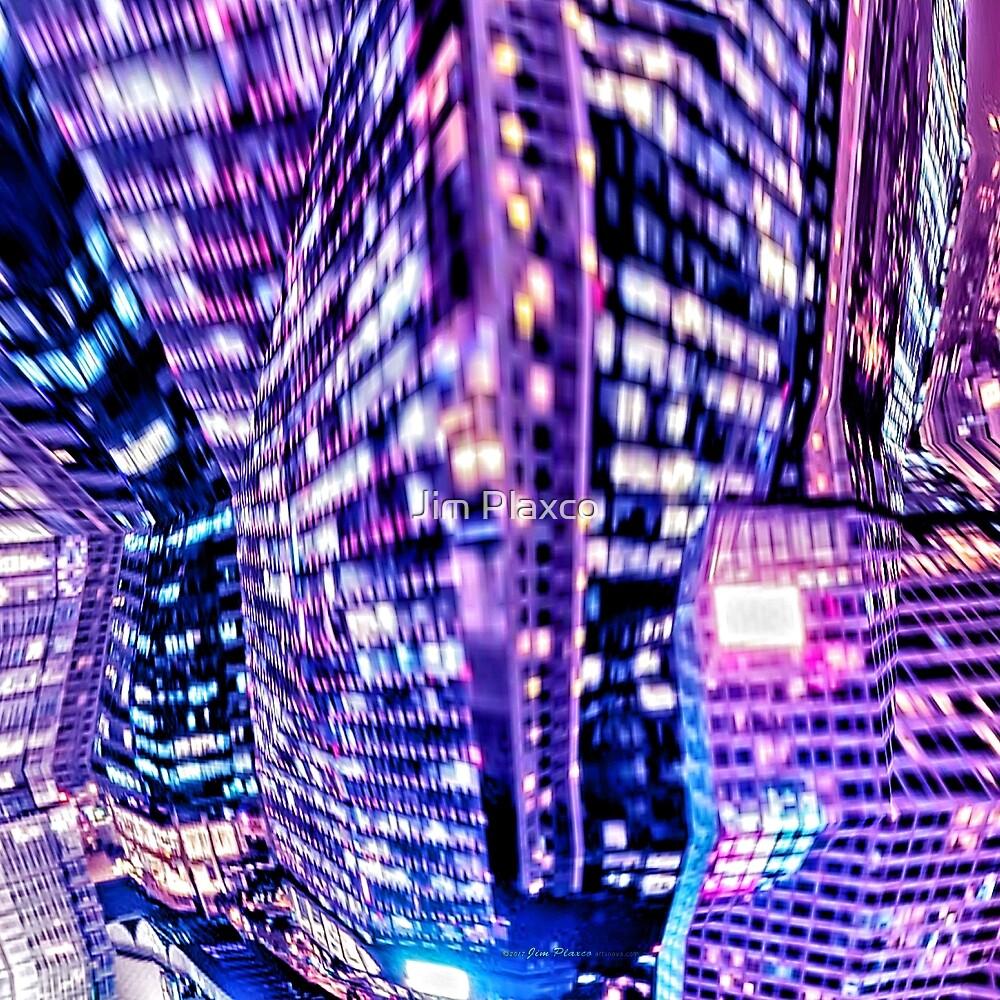 Glitch City Night Glitch Art by Jim Plaxco
