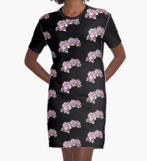Pink Orchid  Graphic T-Shirt Dress