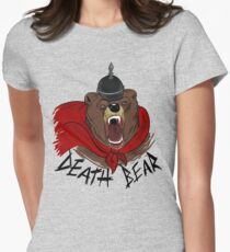 Death Bear Womens Fitted T-Shirt