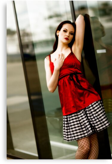 Anne Duffy Fashion Red Top by Tony Lin