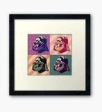 Darth Kitty Pop - Pastel Framed Print