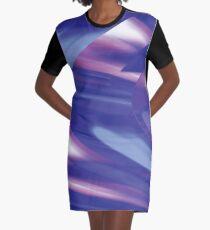 Time Traveler | Abstract Interstellar Blue Shift Graphic T-Shirt Dress