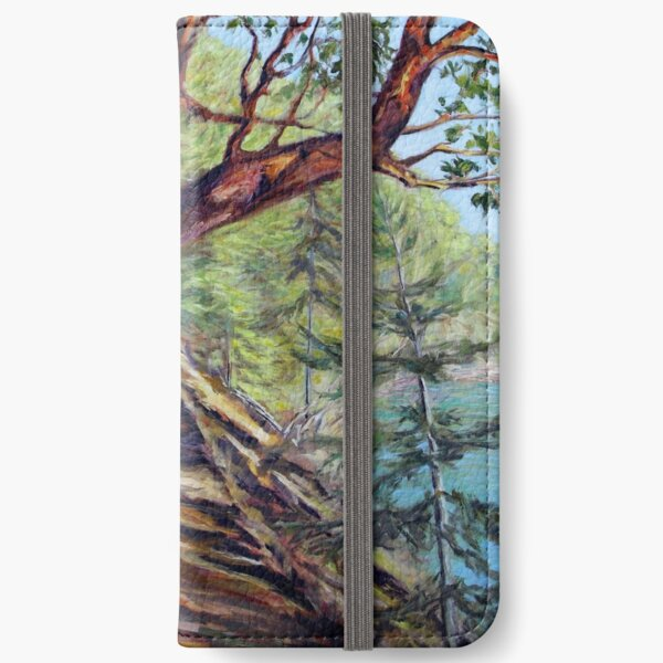 Storytelling Arbutus Tree Bennett Bay Mayne Island BC iPhone Wallet