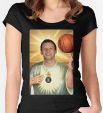 Joe Ingles, Jazz Jesus Women's Fitted Scoop T-Shirt