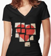 Della's Heart Women's Fitted V-Neck T-Shirt
