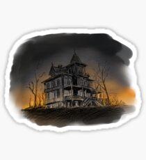 Halloween mansion Sticker