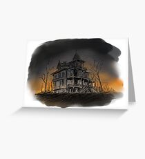 Halloween mansion Greeting Card