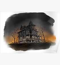 Halloween mansion Poster