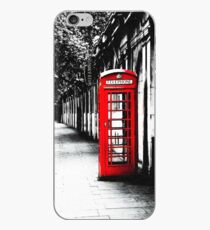 London Calling - London Red Telephone Booth - Classic British Phone Box iPhone Case