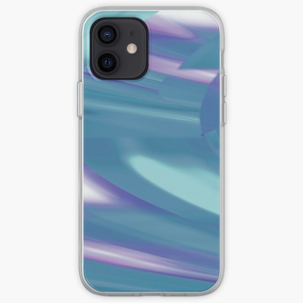 Teal + Purple, Abstract Interstellar Time Traveler II Design iPhone Soft Case