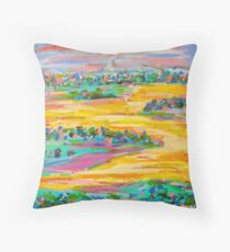 Yellow Dreaming Throw Pillow