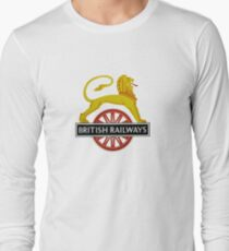 British Railway Lion on Bicycle Emblem Long Sleeve T-Shirt