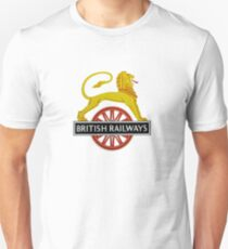 British Railway Lion on Bicycle Emblem Unisex T-Shirt
