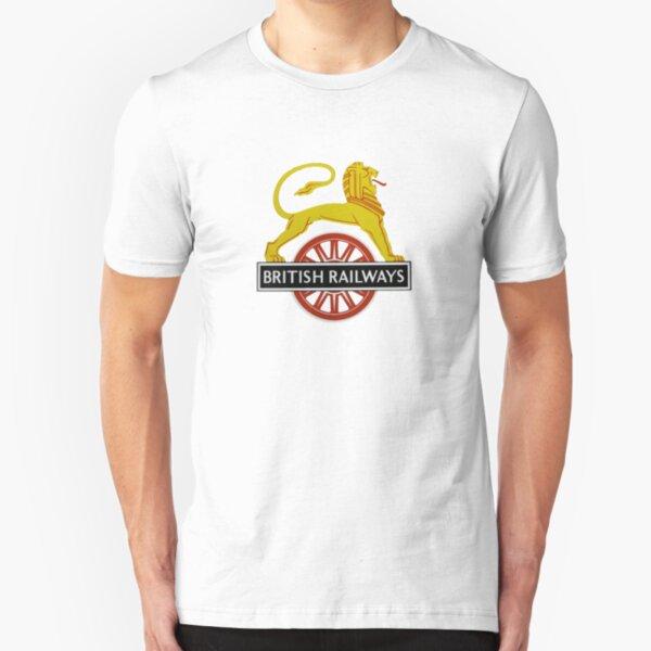 British Railway Lion on Bicycle Emblem Slim Fit T-Shirt