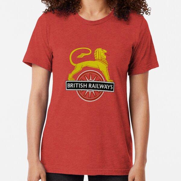 British Railway Lion on Bicycle Emblem Tri-blend T-Shirt