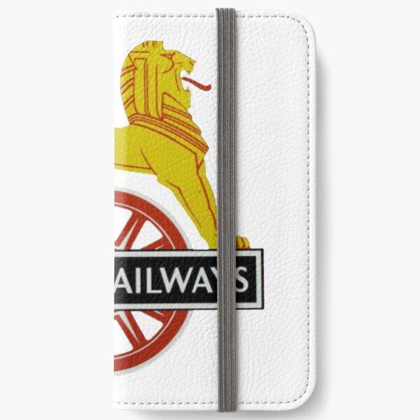 British Railway Lion on Bicycle Emblem iPhone Wallet