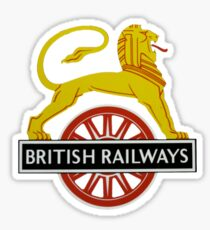 British Railway Lion on Bicycle Emblem Sticker