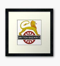 British Railway Lion on Bicycle Emblem Framed Print