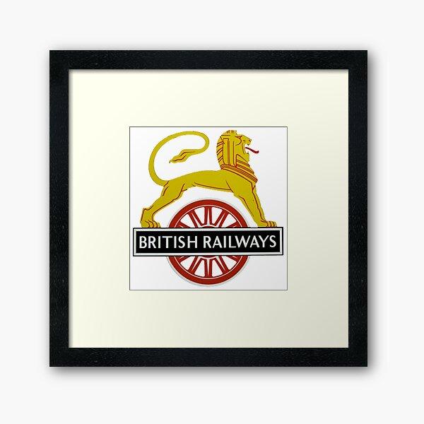 British Railway Lion on Bicycle Emblem Framed Art Print