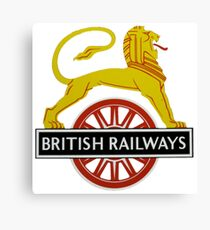British Railway Lion on Bicycle Emblem Canvas Print