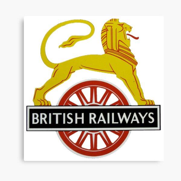 British Railway Lion on Bicycle Emblem Canvas Print