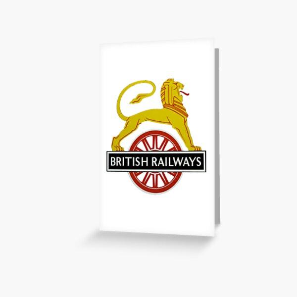 British Railway Lion on Bicycle Emblem Greeting Card